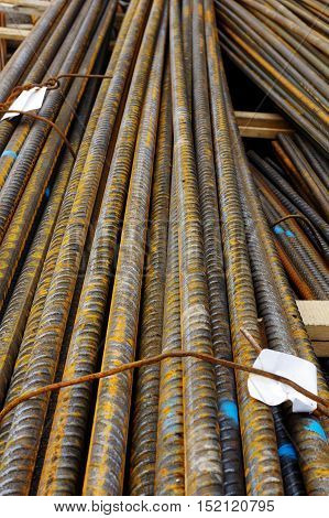 Reinforcing steel  industries building construction material pack.