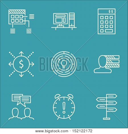 Set Of Project Management Icons On Opportunity, Personal Skills And Investment Topics. Editable Vect