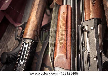 Hunting stacked guns during duck hunting season