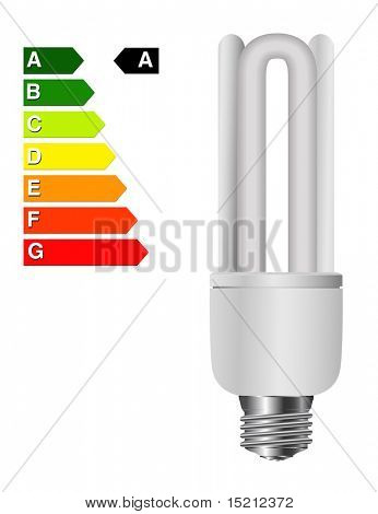 vector light bulb with energy rating