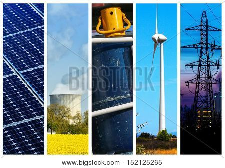 Collage Of Power And Energy Concepts