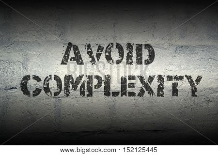 Avoid Complexity Gr