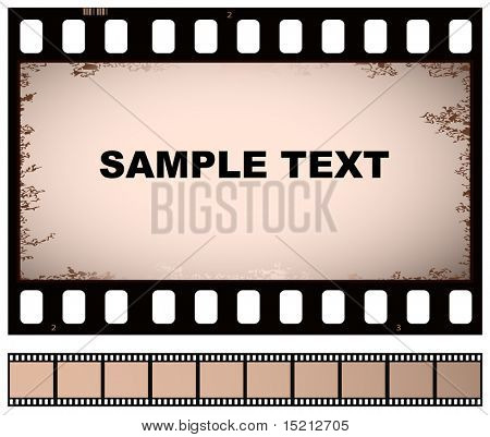 vector old film strip