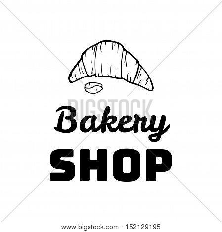 Croissant Doodle, a hand drawn vector doodle illustration of a Croissant. Bakery shop Vector Illustration