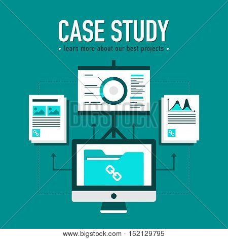 Case study with best projects presentation in green colors