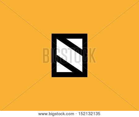 Abstract letter S shield logo design template