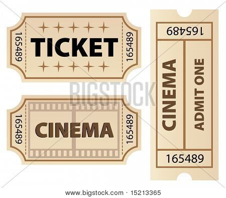 vector ticket template