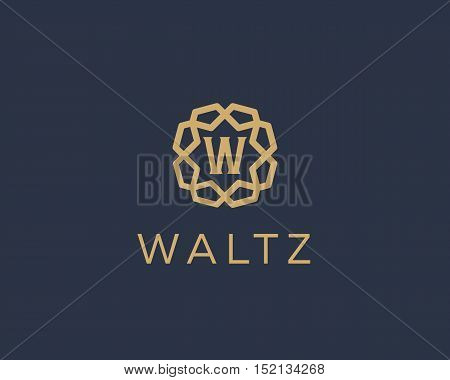 Premium letter W logo icon vector design. Luxury jewelry frame gem edge logotype. Print monogram initials stamp sign symbol