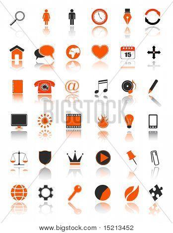vector web icons set
