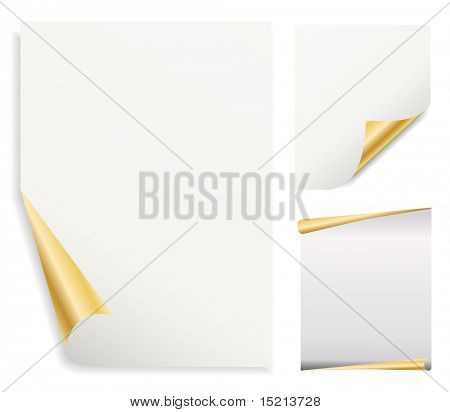 vector note paper with corners