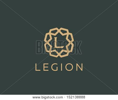Premium letter L logo icon vector design. Luxury jewelry frame gem edge logotype. Print monogram initials stamp sign symbol