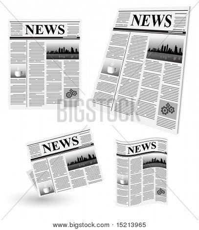 vector newspaper