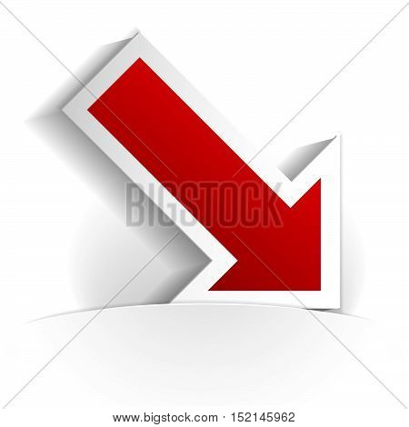 arrow icon in paper style full vector