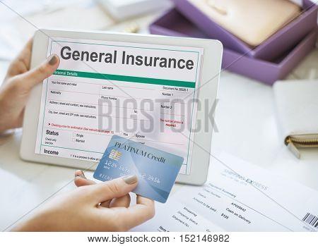 General Insurance Rebate Form Information COncept