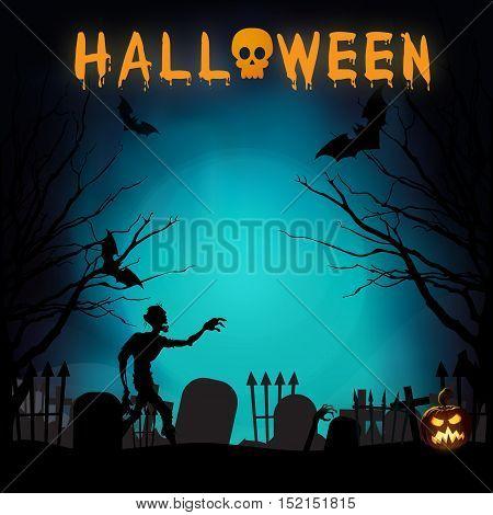 Scary Graveyard - Halloween Background