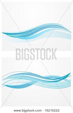 Fondo de ondas azules