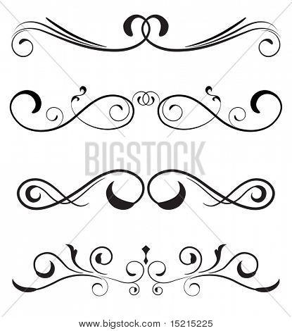 vector set - floral borders