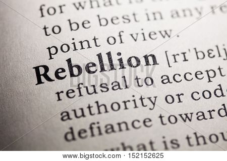 Fake Dictionary Dictionary definition of the word rebellion.