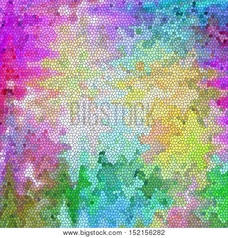 Abstract coloring background of the color harmonies gradient with visual mosaic,spherize,wave,lighting and stained glass effects