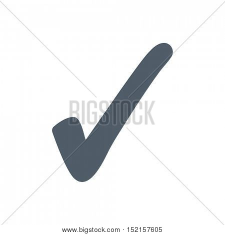 Check mark icon isolated on a white background