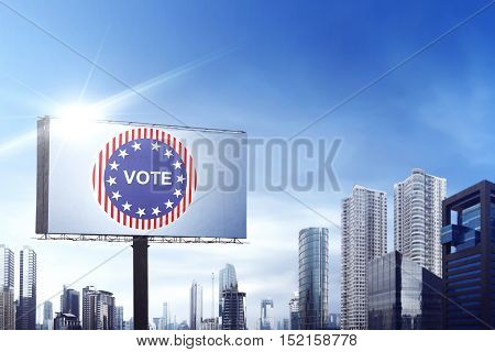 Billboard Show A Vote Pin At Daylight
