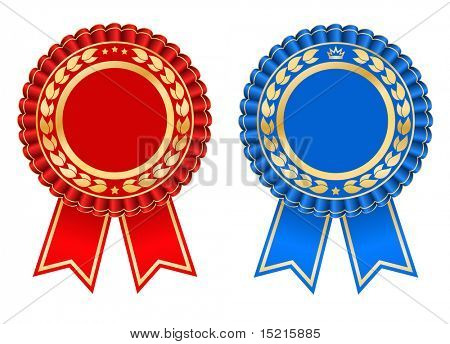 Award rosette design - vector