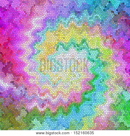 Abstract coloring background of the pastels gradient with visual mosaic,twirl,wave and stained glass effects