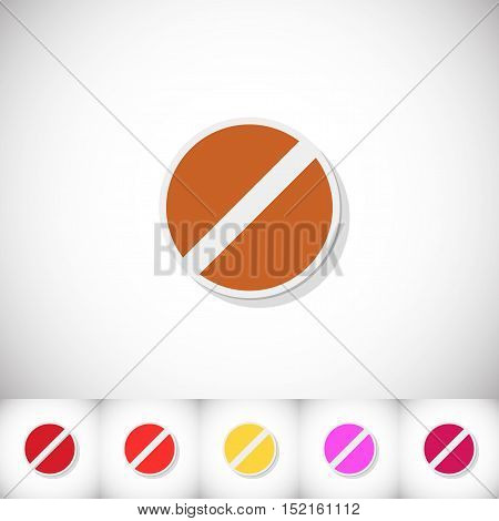 Pills. Flat sticker with shadow on white background. Vector illustration