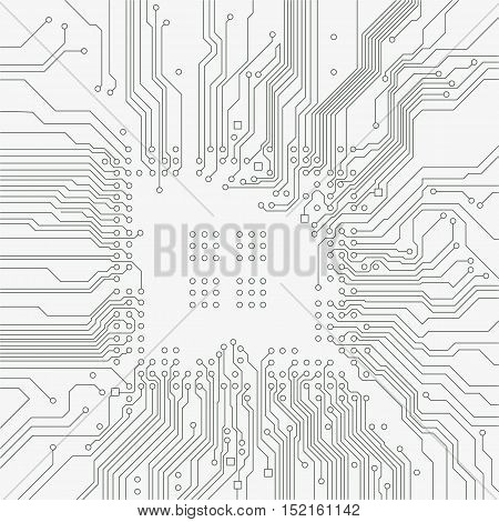 Circuit board background. Vector electronic gray background