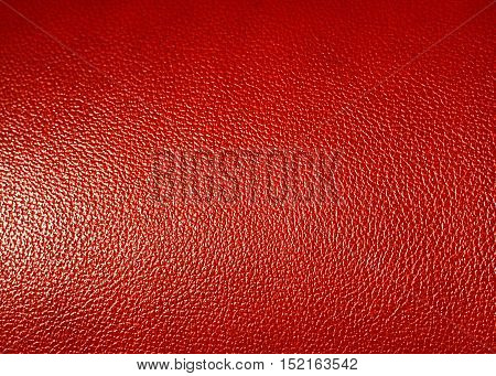 Surface of Red leatherette texture as background