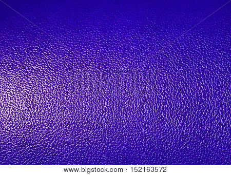 Surface of Blue leatherette texture as background
