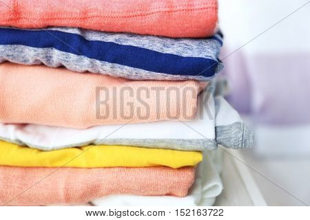 Pile of clothes, closeup