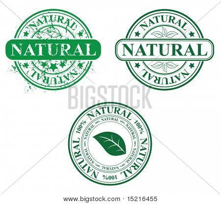 stamp template - natural