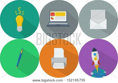 Business | Set of great flat icons with style long shadow icon and use for Business, Marketing and much more.