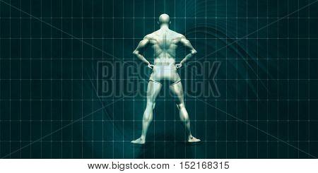 Physical Training for Motivation and Inspiration Art 3d Illustration Render