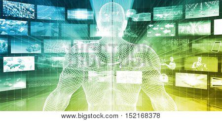 Target Market Business Targeting for Marketing Strategy Concept 3d Illustration Render
