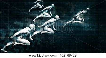 Web Analytics and Monitoring Internet Data Transfer 3d Illustration Render