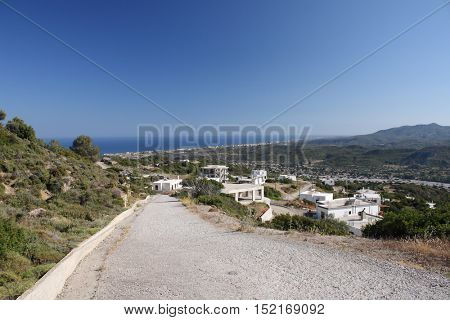 Road to Asklipio in Rodos