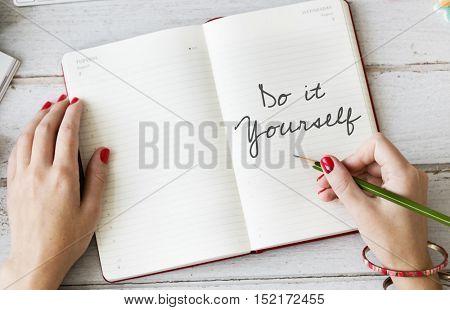 Be Yourself Aspiration Believe Hopeful Optimism Concept