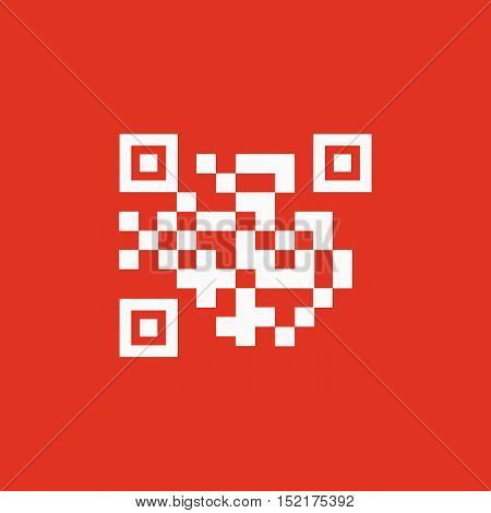 The QR code icon.  Link and URL symbol. Flat Vector illustration
