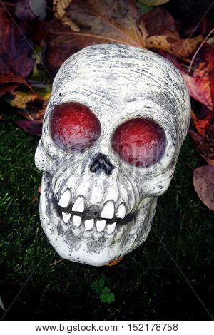 Glowing Halloween skeleton decoration.