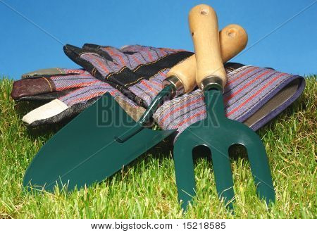 Hand tools images illustrations vectors hand tools for Small garden hand tools