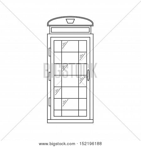 Call-Box London Thin Line Pixel Perfect Art. Material Design. Landmark for Tourist. Vector illustration