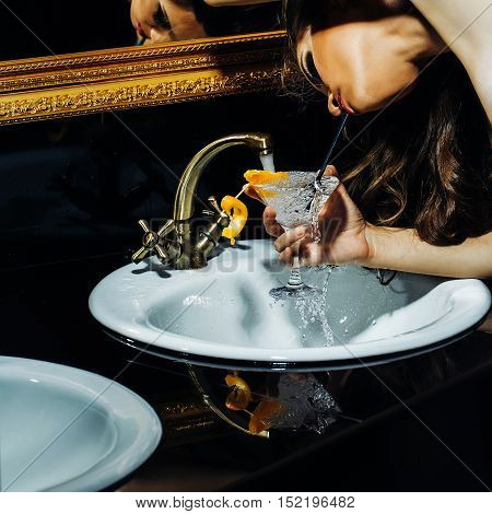 Girl Gaining Water