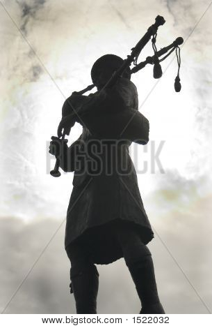 Bagpiper In High Contrast