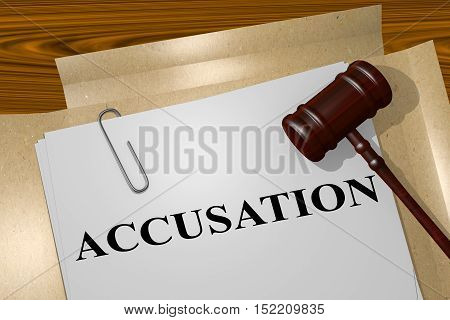 Accusation - Legal Concept