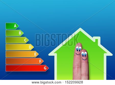 Low-power Of Green House With Two Cute Fingers