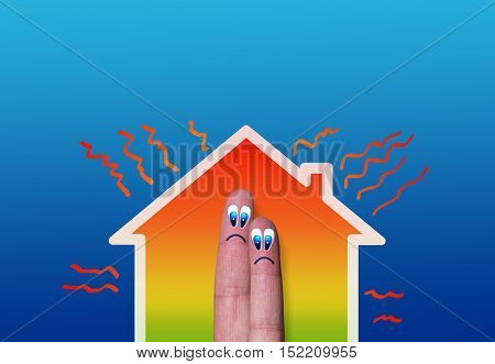 House With High Heat Loss Illustration