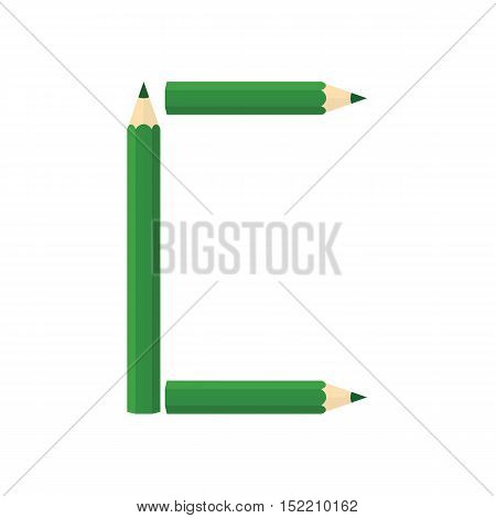 Color Wooden Pencils Concept By Rearrange The Letters C