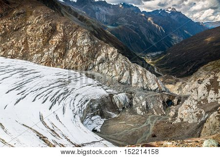 View from the top of Pitztal glacier in Austria